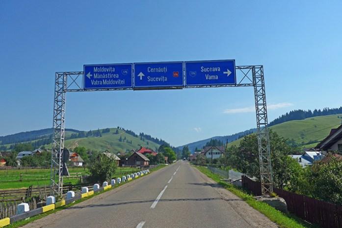Rota dos Mosteiros de Bucovina. Vatra Moldovitei Estrada DN17A