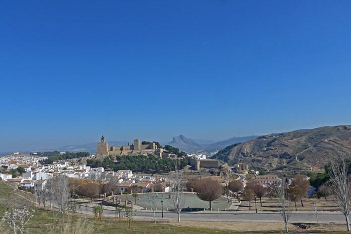 Antequera, Fortaleza Alcazaba, Andaluzia viagem de moto