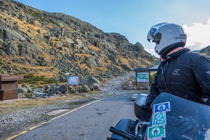 Viagem de mota pela Serra de Gredos: Calçada romana