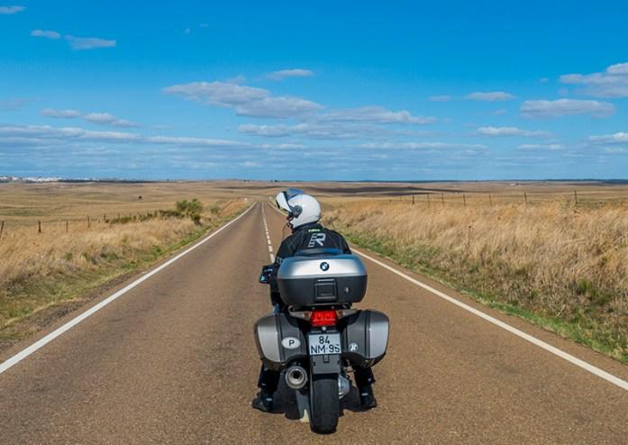 Viagem de mota pela Extremadura.