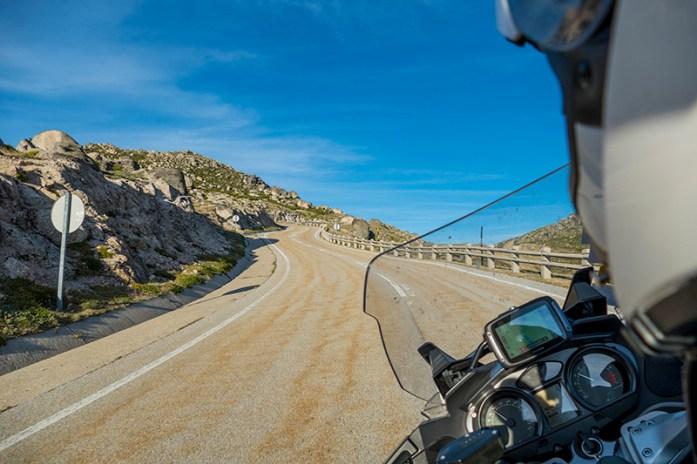 Loriga Pass, Serra da Estrela, Portugal com o Tom Tom Rider 550