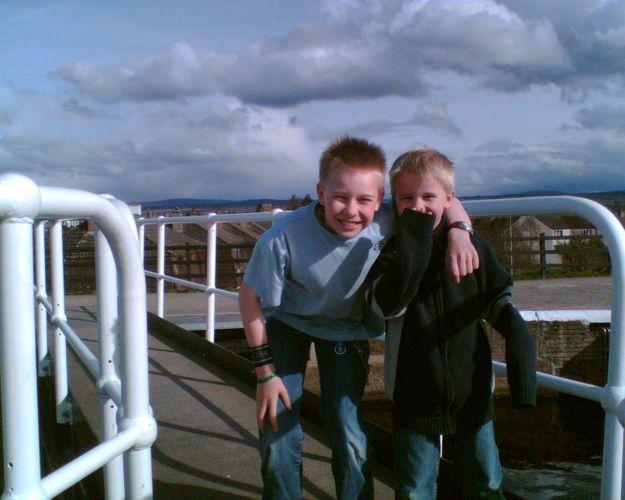 Boys at Inverness Locks