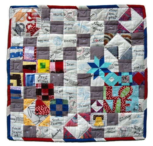 """59. """"It's Literally a Postage Stamp Quilt"""" Esther Muh Albany, California"""
