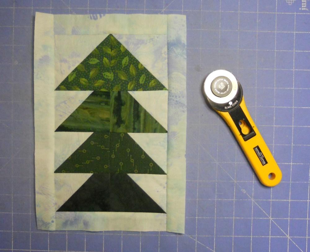 Treeline Border for Turtles Quilt (5/6)