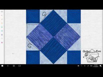 Four Patch Art Square Variation #6