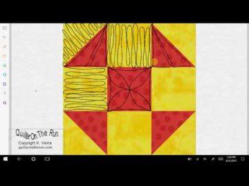 Shoofly Quilt Block Quilting Ideas Variation #5