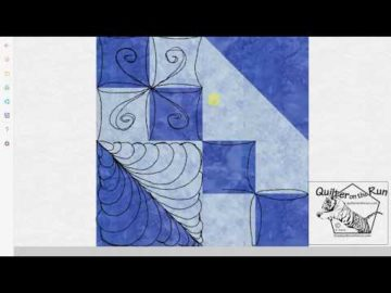 Free Motion Quilting Ideas for an Hourglass Block Variation #5
