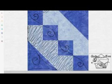 Free Motion Quilting Ideas for an Hourglass Block Variation #6