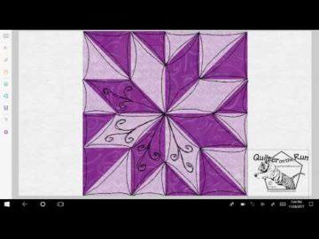 Free Motion Quilting Ideas Lemoyne Star Variation #7