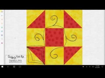Shoofly Quilt Block Quilting Ideas Variation #3