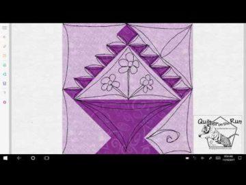 Basket Block Free Motion Quilting Ideas Variation #6