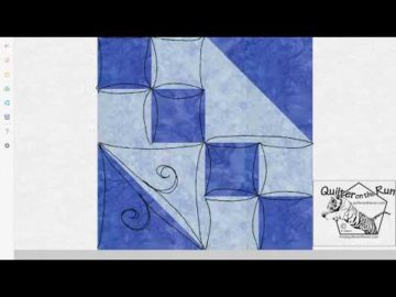 Free Motion Quilting Ideas for an Hourglass Block Variation #2
