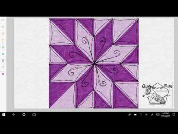 Free Motion Quilting Ideas Lemoyne Star Variation #2