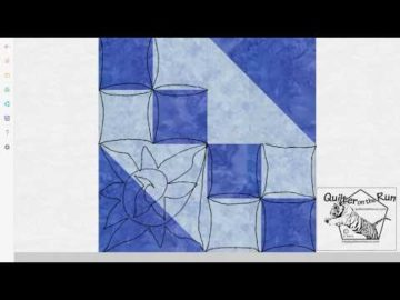 Free Motion Quilting Ideas for an Hourglass Block Variation #4
