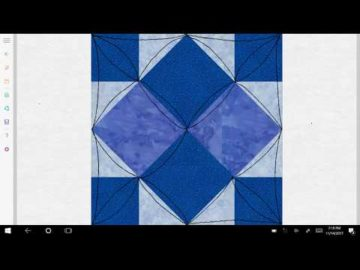 Four Patch Art Square Variation #4