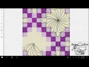 Free Motion Quilting Ideas for a Double Irish Chain Variation #1