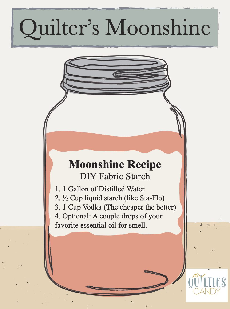 Quilter's Moonshine: Liquid starch for quilters