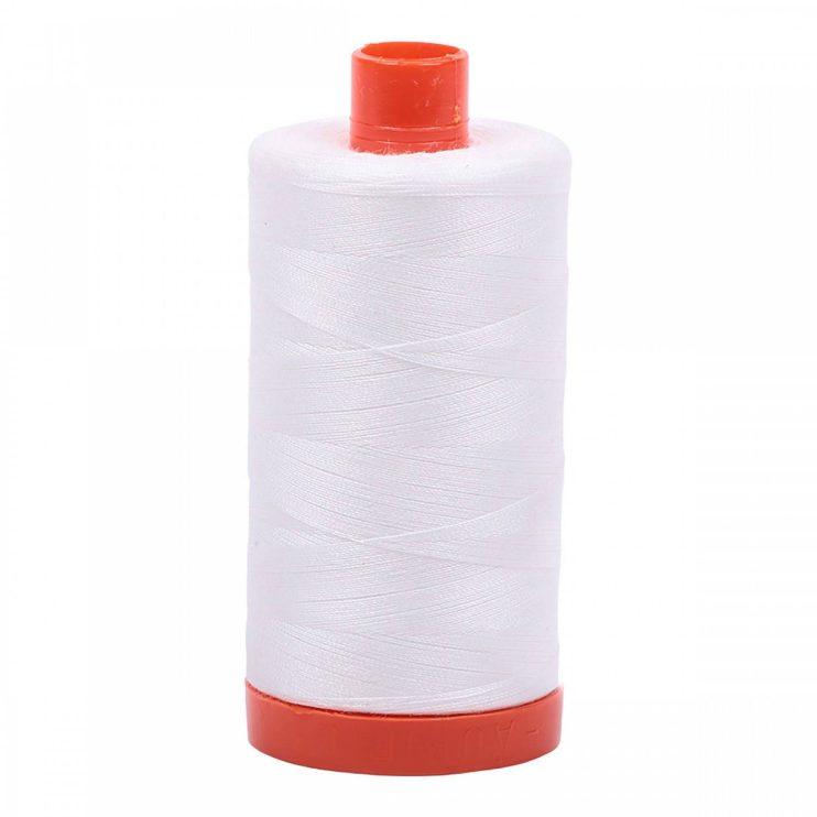 Aurifil White Cotton Thread