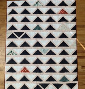 Black and White Cafe Tile Quilt Top