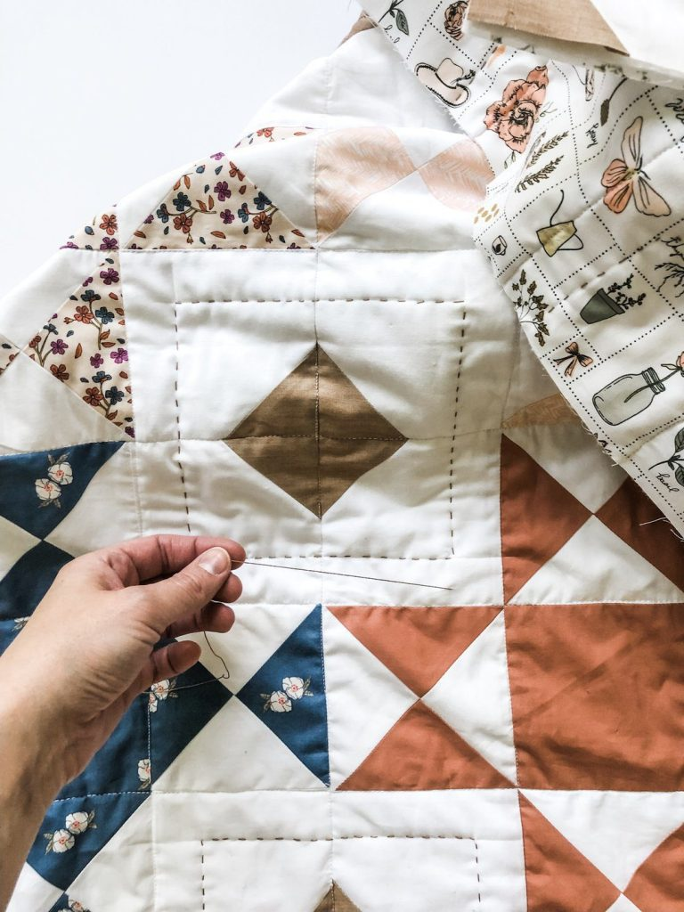 Hand Quilting the Wishing Well Quilt