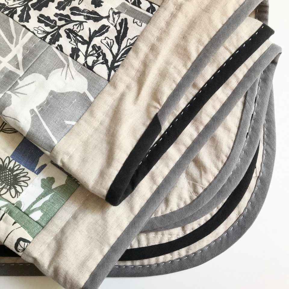 Close up of quilt made with Bias Binding by The Small Circle