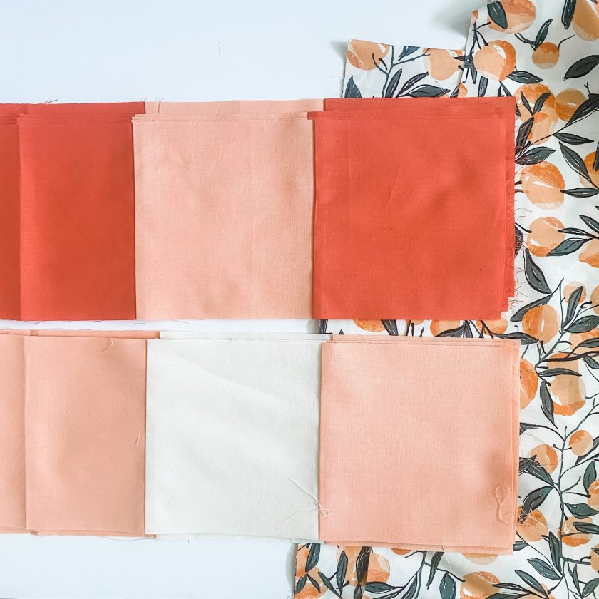 Gingham Quilt in Orange Fabrics