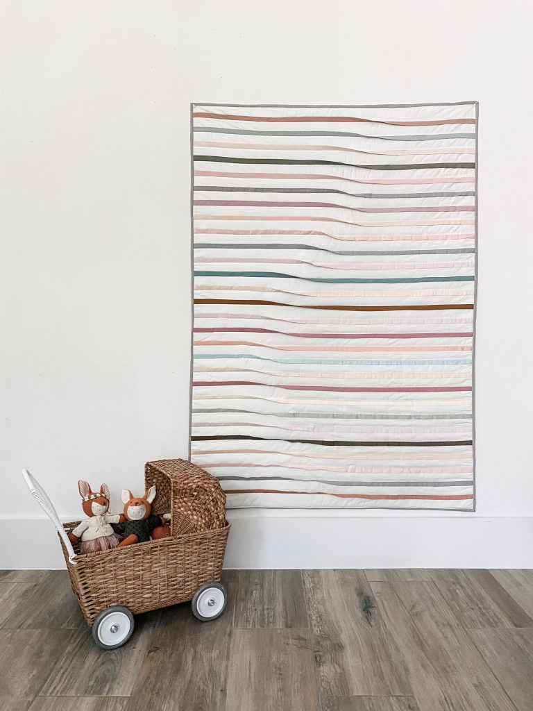 Free beginner quilt tutorial for Playtime Quilt