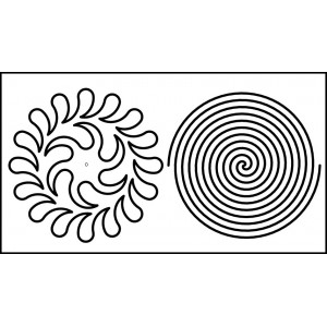 6 inch wreath spiral quilting template