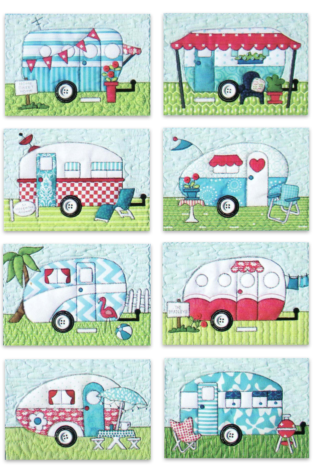 Campers Quilt Pattern By Amy Bradley Designs 890848002454