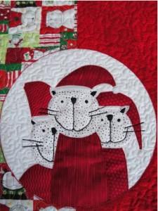 Santa Cats Table Runner