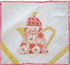 Susan branch teapot applique