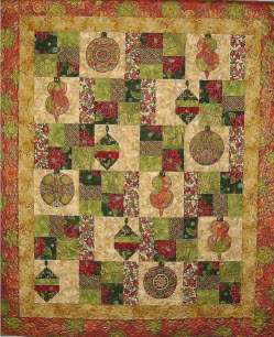 christmas ornaments quilt