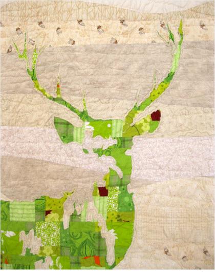 Green Stag quilt to honor deer widows – Quilting : deer quilt patterns - Adamdwight.com