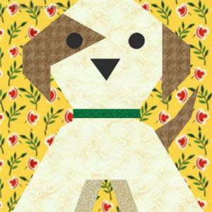 Puppy Dog Quilt Block Pattern Quilting