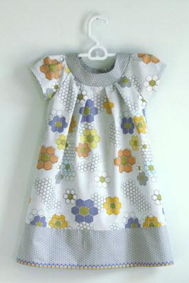 Little Girls Dress From Quilt Blocks Fabric Quilting