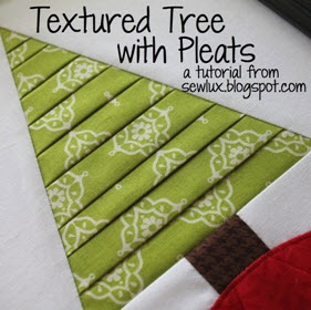Tutorial Pleated Christmas Tree Wall Art Quilting