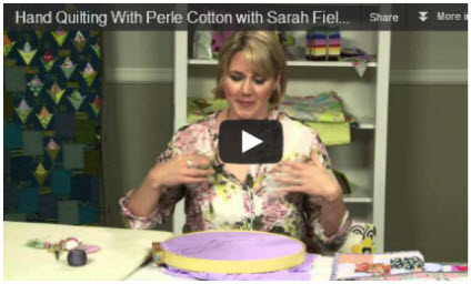 Hand Quilting Video Sarah Fielke