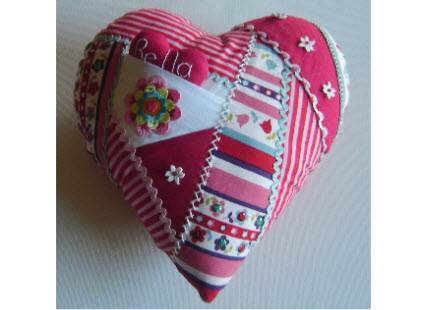 crazy heart pincushion
