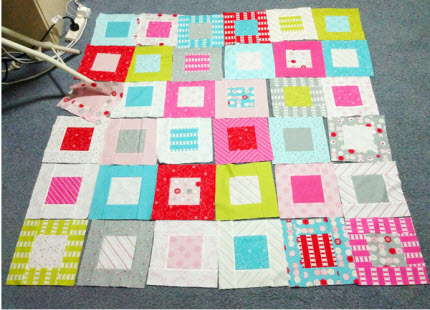 baby quilt in progress