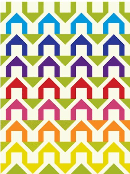 houses quilt pattern