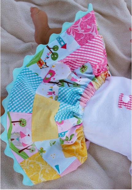 patchwork skirt baby