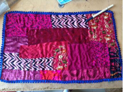 Ta Dah!: Bohemian-style quilted mat