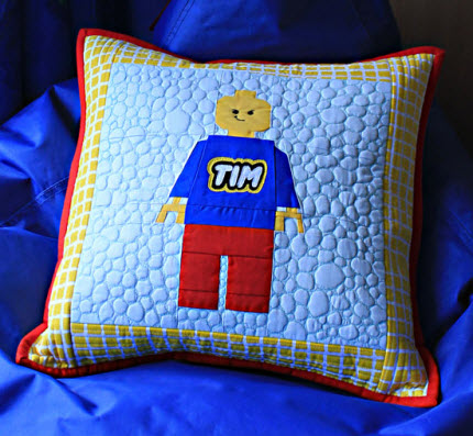 quilted pillow lego for boys