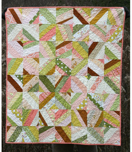 Ashleys quilt peachy baby