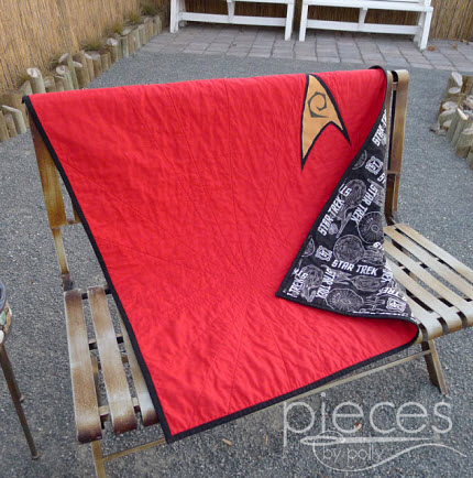 For the Boys Star Trek Quilt