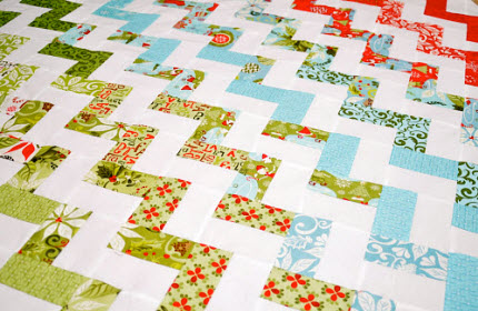 zig zag quilt pattern Pere Noel TeresaDownUnder