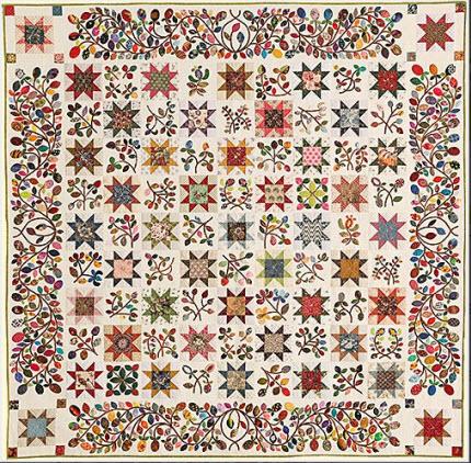 Stars and Sprigs BOM quilt