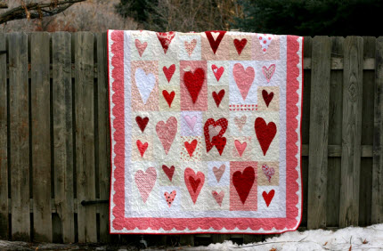 Blocks for Bella Valentines Heart Quilt
