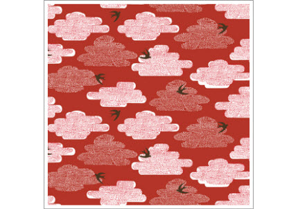 birds in sky fabric