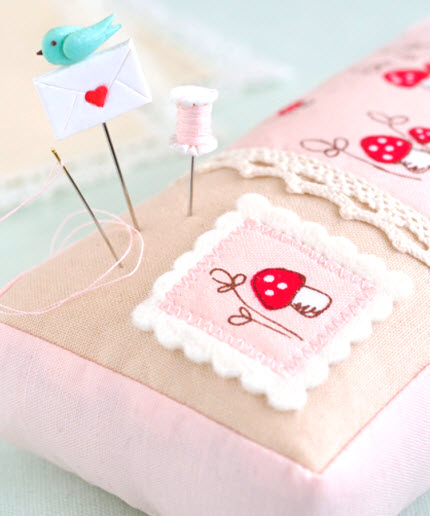 pretty by hand pincushion
